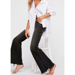We the Free Black Factory Faded Wide Leg Jeans 27